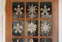 Snowflakes / All kinds of snowflakes. Paper, thread, wood and lots more...