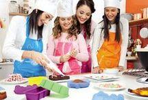 Dzieci w kuchni ♥ / Akcesoria kuchenne dla dzieci. Foremki do muffinów, foremki do lodów i sorbetów, zestawy do pieczenia ciastek oraz sztućce