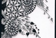 Zentangle tiles / The most beautiful zentangle tiles on the web... I feel the zen just looking at these... <3