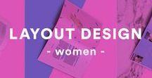 Design: Layout [ girl ] / For Women,girls Editorial ,layout Design Idea