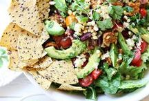 Vegetarian Recipes - Savory / Yum!  A collection of handy links, recipes, ideas, and inspiration for meatless-meals and vegetarian cooking/baking.