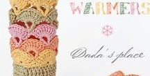 Crochet gloves, mittens, wristlets