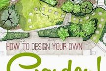 Landscape Design / A collection of handy links, infographics, tutorials,DIYs, freebies, instructions, ideas, and inspiration to help plan and design your dream garden.