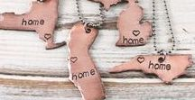 Home State Necklaces and Keychains by Woobie Beans / Find all of our Home State Necklaces and Keychains so you can represent your home state - whether that's where you were born and raised or where you ended up!
