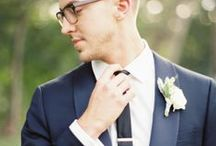 Groom Style / Gentleman, it's your day to look your very best too- and it's all in the details. Tailored suits, great shoes, and that little bit of flair.