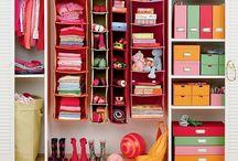Organization / Home organizing ideas, office, closets, cupboards, kids toys, books, clothing, storage ideas