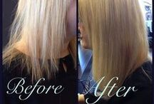 Before and After at Capelli / Getting Hair extensions at Capelli Hair Dressers in Plamerston North