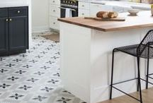 Kitchen Flooring / Floors take a beating under the best of circumstances, but nowhere more so than in the kitchen — command central for cooking, homework, family gatherings and more. So it's important to find a kitchen floor that can withstand constant traffic and make the style statement you want.