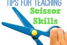 Scissors and fine motor activities / Early learning skills, scissors and other fine motor skills for young children