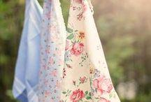 Tissus / Linens end cotton / Des bouts de chiffon, de jolis tissus et aussi des torchons.