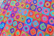 2 CROCHET : afghans/ blankets / mønster på tepper  og pledd