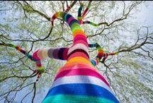 Art outdoor 3: Yarn bombing