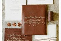 Leather Wedding Details / Leather Wedding Detail Inspiration. Leather has the ability to be both masculine and feminine, rustic or elegant, refined or casual in your wedding decor.