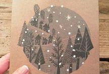 Christmas / Christmas cards paper decoration design illustration