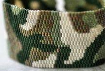 Beading: weave Camouflage