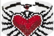Beading: weave Love