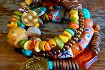 Etnic inspiration / Colourful inspiration for making jewellery with that extra boho feeling.