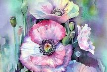 Watercolor tutorials - flowers