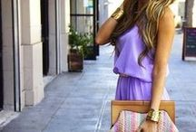 Lilac color outfits