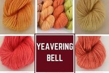 Yeavering Bell Yarn Colours / Whistlebare's beautiful Yeavering Bell Yarn is spun entirely from fibre from Angora Goats and Wensleydale Sheep kept on the farm.  The yarn is hand dyed and here are the colours....