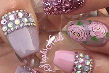 Nail bling / Inspiration for blinging up your nails.