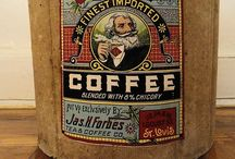 Vintage Coffee Tins / by Mary Barnes-Schneible