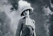 La belle époque / A moda das roupas e dos cabelos  das pessoas antes de 1920