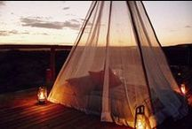 Sleep outs / Magic in the Bush topic - Images and links to examples of sleep outs offered at exclusive lodges.