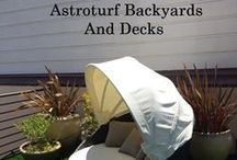Astroturf Backyard and Decks- San Francisco / Cool ideas for decks, unique deck ideas, astroturf. Innovative and drought tolerant idea for decks and even backyards!