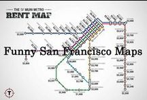 Funny San Francisco Maps / These are hilarious maps of San Francisco! Haha.