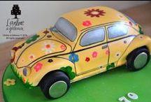 Commuting Cakes / Cakes that go vroom vroom or choo choo or similar :)