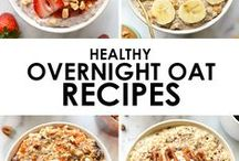 Overnight Oats and Breakfasts / A selection of overnight oat recipes. healthy, slimming, vegan, skinny. An overnight oat recipe for everyone.