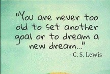 Dreams & Goals / Setting goals, making plans and hoping good stuff will come. / by Michelle (simplyseashell.com)