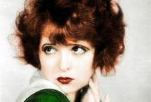 """Clara Bow, Original """"It"""" Girl / To posterity, film buffs, and historians alike Clara Bow will forever be the """"It"""" girl…""""the royal mounted policeman of sex who always gets her man"""" at the end of every film. Granted many older fans who are still alive today remember her with love and affection. She was often cast as a waitress, a manicurist, or a salesgirl.  The ever plucky and ever resourceful Clara would predictably set her sights on the prize, a man. Also included on this board will be other stars of her era / by Joannie Nichols"""
