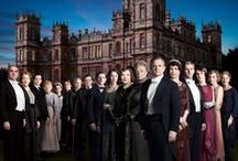 Downton Abbey  / Thanks to cable I was able to watch all 3 seasons of Downton Abbey! Laced with a lot of sadness, wit and killer fashion, one still cannot help shaking their heads sometimes at the stark divide between upper class & working class. / by Joannie Nichols