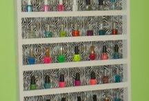 Nail Polish Racks / DIY Nail Polish Racks for the wall!