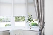 Blinds and Drapes / Can't decide on curtains or blinds? Have both! Try Bloc Blinds Dim out fabrics with dramatic drapes or Bloc Blinds BlocOut with light and floaty sheer curtains. So many options!