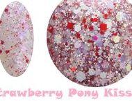 Strawberry Pony Kisses Nail Polish GlitterLambs.com