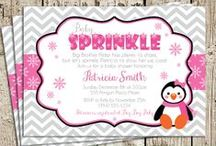 Penguin Baby Shower Ideas / Winter Wonderland Little Penguin Baby Shower Ideas, with pinks, grey, silver, snowflakes, and the sweetest little pink penguin!