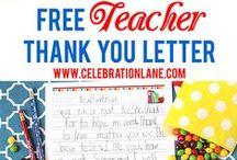 Teacher Appreciation / Teacher Appreciation Week, Free Printables, Gift Ideas