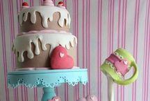 Cakes. (Tartas) / Diseño y decoración de galletas y tartas / by Carina Gabriela Oviedo Sosa