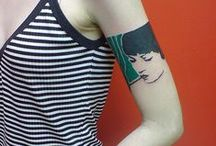 """People made of art / """"Be a good-looking corpse. Leave a good-looking tattoo."""""""