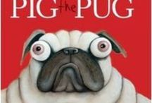 Pig the Pug Teaching Notes / BLABEY, Aaron, Scholastic, 2014.  Fun and educational teaching notes for the hilarious Pig the Pug, covering Literacy, Mathematics, Science, Arts and Crafts. Suitable for preschool to early primary.  www.romisharp.wordpress.com/pig-the-pug-teaching-notes