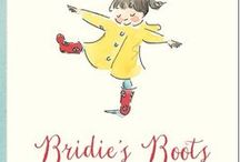 Bridie's Boots Teaching Notes / CUMMINGS, Phil (author), ACTON, Sara (illus), Working Title Press, 2014.  Splashing good fun, adventures and awesome recycling ideas with these teaching notes for Bridie's Boots, including Literacy, Maths, Science and Arts and Crafts.  www.romisharp.wordpress.com/bridies-boots-teaching-notes www.facebook.com/mylittlestorycorner