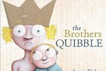 The Brothers Quibble Teaching Notes / BLABEY, Aaron (author, illus), Penguin, 2014.  Raging good fun and love-ly ideas for siblings with these teaching notes for The Brothers Quibble, including Literacy, Maths, Science and Arts and Crafts.  www.romisharp.wordpress.com/the-brothers-quibble-teaching-notes www.facebook.com/mylittlestorycorner