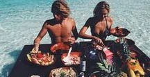 Beach Food Recipes / Easy food recipes for beach lovers. #food #beach #recipes #easy #drinks #comfort