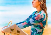 Womens Wetsuits / Coolest wetsuits! #women #surf #clothing #surfing #swimwear