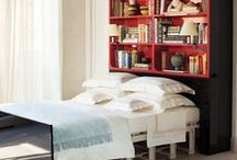 Bedroom Space Savers / Beds with storage, Murphy Beds, elevator beds, and the like.
