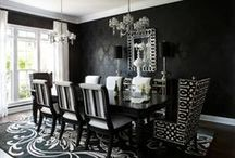 Back in Black / Interiors dressed in black -- think black walls, black cabinetry, black trim, black ceilings -- that are classic, dramatic, and in some cases, a little moody.