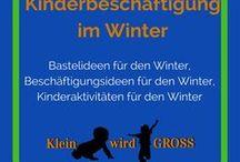 Winter Kinderbeschäftigung / Bastelideen Winter, Beschäftigungsideen Winter, Kinderaktivitäten Winter